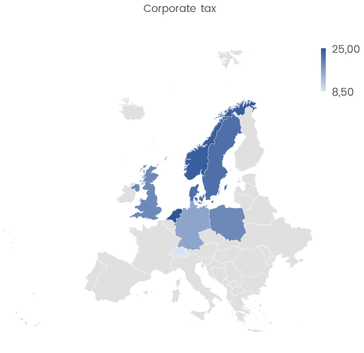 Corporate tax map