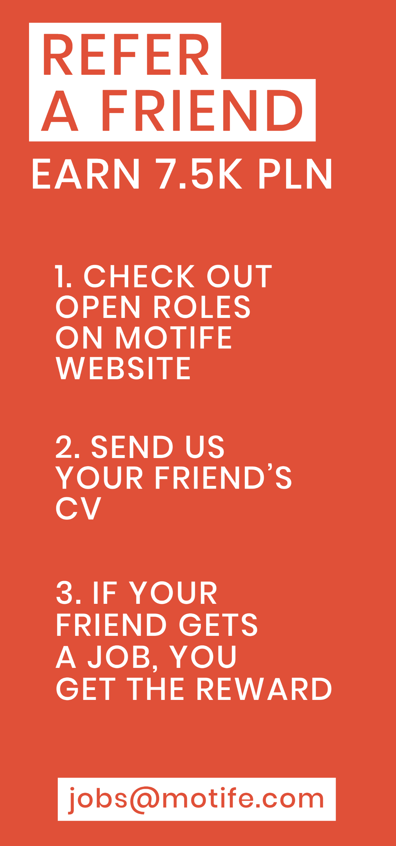 Refer a friend for a job